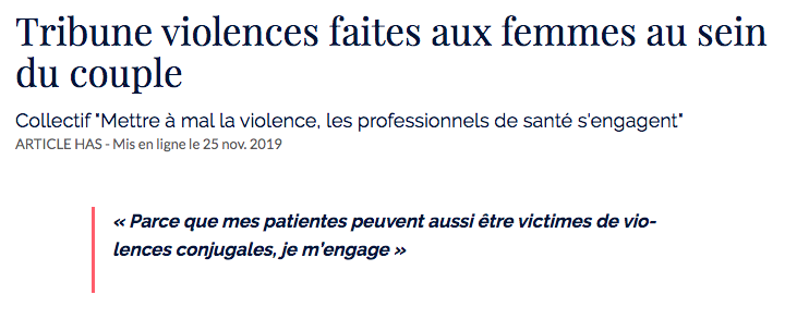 Tribune Violences